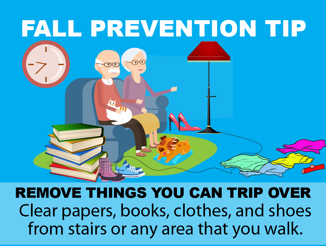 Fall Prevention Tip - Remove Clutter
